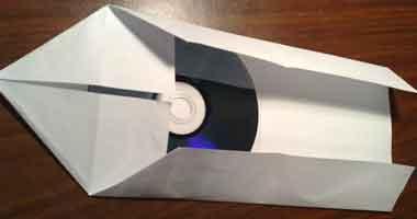 Шаг №6: Конверт для хранения 3-х дисков из листа А4